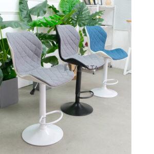 Ghế quầy bar có lưng chân tăng giảm sơn tĩnh điện