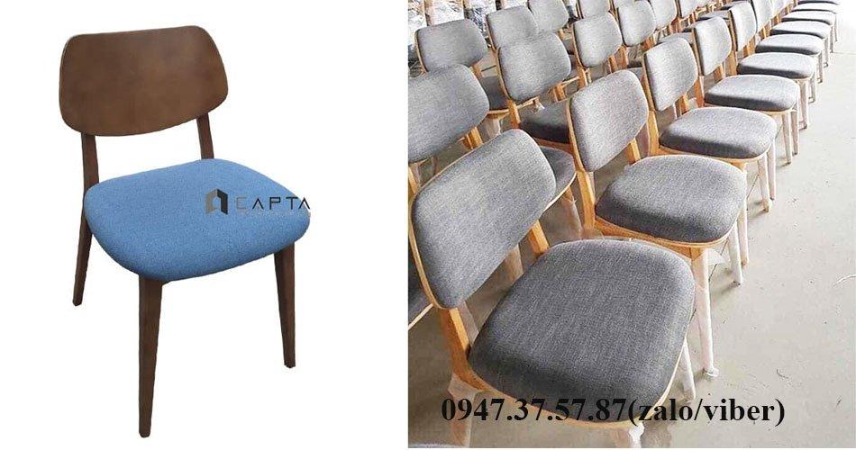 Ghế gỗ có nệm làm việc tại nhà giá rẻ PLC